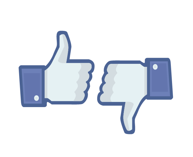 Facebook thumbs up or down?